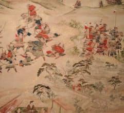 絵解きに使用される「播州三木城天正中合戦図」(部分)