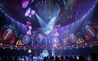 24日に新装開業する東京ディズニーシーの人気施設「マーメイドラグーンシアター」が報道陣に公開された(20日、千葉県浦安市)=共同