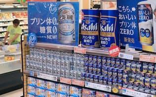 規制緩和でスーパーやコンビニなど様々な業態が酒を販売するようになった(東京都江戸川区)