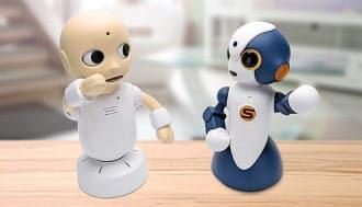 コミュニケーションロボット「CommU(コミュー)」(左)と「Sota(ソータ)」=科学技術振興機構提供