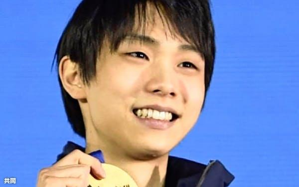 露ソチ五輪で羽生結弦は金メダルを獲得した=(共同)