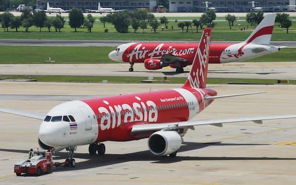 エアアジアの機体(タイ・バンコク)