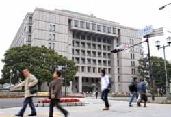大阪市が発足したのは126年前。面積は現在の15分の1程度だった。写真は現在の大阪市役所(大阪市北区)