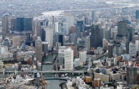 道府県と政令市の役割分担を巡る議論は世紀を超えて続いている。写真は現在の大阪市中心部