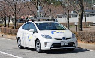 金沢大学は石川県珠洲市で自動運転車を一般道で走らせる実験を重ねている