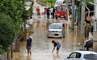 ゲリラ豪雨で都市の被害が増えている(2012年8月、京都府宇治市)