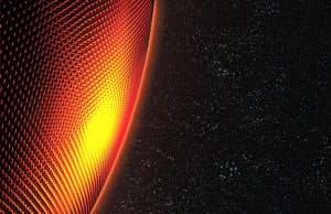 ブラックホールの縁は高エネルギー粒子の壁があるのかもしれない。画像はそのイメージ(提供:Kenn Brown,  Mondolithic Studios)