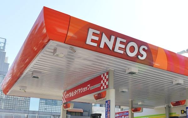 給油所で使う「ENEOS」ブランドを社名に掲げる