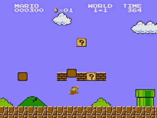 スーパーマリオブラザーズのゲーム画面(C)Nintendo