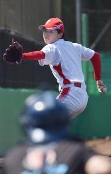 「京都フローラ」で本格右腕投手として活躍を続ける小西さん
