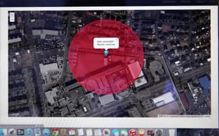 ALSOKのドローンを感知システムの画面