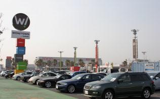 国内の中古車の販売台数は回復途上にある(千葉市内の販売店)