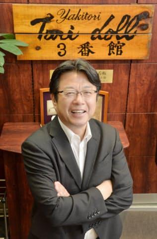 日本と海外を行き来するトリドールの粟田社長(神戸市中央区)