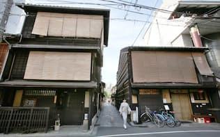 間口の狭さは400年前の節税策の名残(京都市内)