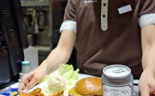 ロッテリアは缶ビールにハンバーガーとつまみをセットにしてチョイのみ需要を開拓する