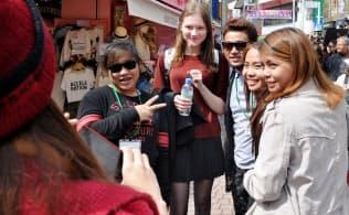 アジアでは各国・地域とも訪日客の伸びは高い(東京都渋谷区)