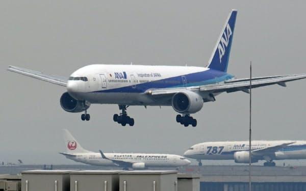 ANA機(羽田空港)