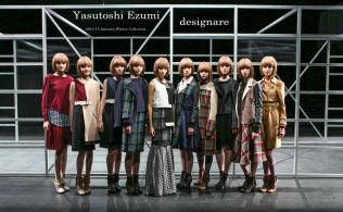 ファッションデザイナーの江角泰俊氏はクラウドファンディングで調達した資金を使い、米ニューヨークの展示会に出展した