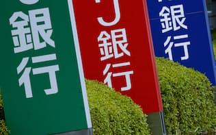 銀行の看板(東京都江東区)