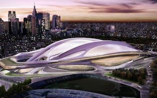 ザハ・ハディド氏が新国立競技場のコンペに提出したデザイン。忠実に再現するには3000億円が必要(日本スポーツ振興センター提供)