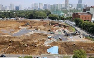新国立競技場の建設予定地(東京都新宿区)