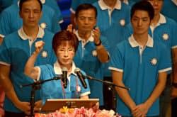 与党・国民党の洪秀柱・立法院副院長(19日、党大会で)