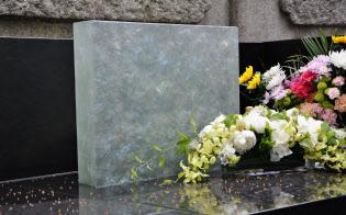 ガラスを使ったお墓も登場している