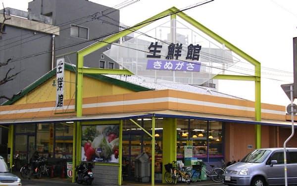 電力小売りでは地場スーパーの動向も注目される(参入を計画するなかむらの「生鮮館なかむら衣笠店」=京都市)