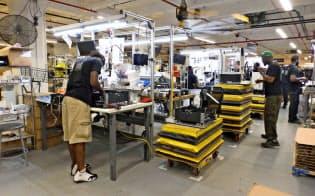 メイカーボットの3Dプリンターは、すべてメード・イン・ブルックリン(ブルックリン産)。新工場内では、約80人が3Dプリンターの組立工として働く。