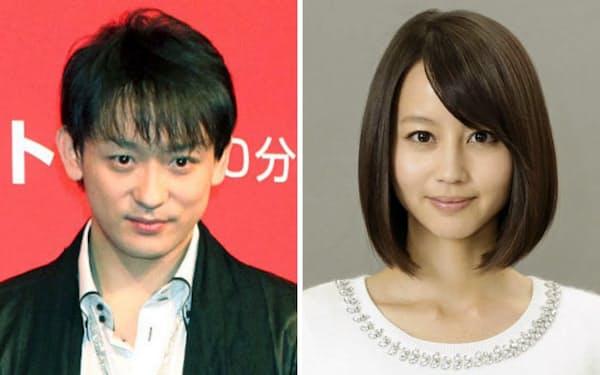 山本耕史さん(左)と堀北真希さん