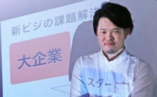 異業種のビジネスマッチングイベントを主催するNTT東日本の沼田尚志さん(東京都港区)
