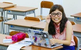 沖縄県在住で起業した女子高生の仲田洋子さん(那覇市)