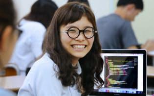 沖縄県在住の女子高生起業家、仲田洋子さん(那覇市)