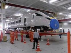 英国に納入する高速鉄道車両