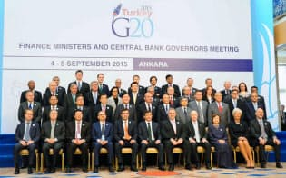 主要国の連携で課税の主導権を取り戻せるか(5日、トルコで開いたG20財務相・中央銀行総裁会議)=共同