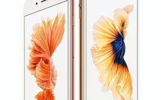 画面サイズが4.7型のiPhone6sと5.5型のiPhone6sプラスがある