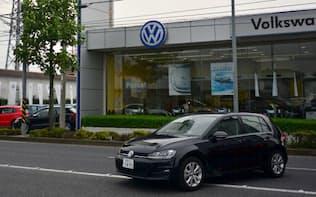 日本市場にも影響が懸念される(24日、関東のVW販売店)