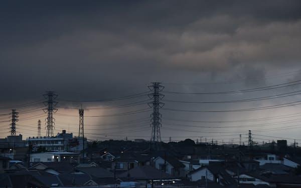 集中豪雨の雲