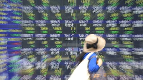 株、一時350円超安 貿易摩擦と金融政策が揺らす