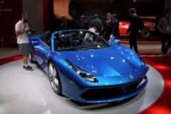 フェラーリは株式市場でも高い人気を示した(9月のフランクフルト国際自動車ショー)