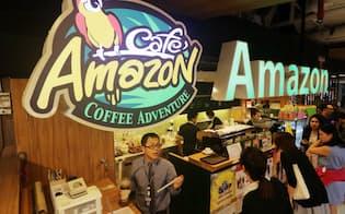 タイ石油公社(PTT)が運営するコーヒーチェーン「カフェ・アマゾン」(16日、バンコク)=写真 浅原敬一郎