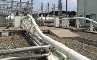 実証実験用の超電導ケーブルが通る管(横浜市鶴見区)