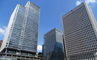 都心部の大型ビルの成約賃料は動きが早い傾向にある(東京・千代田)