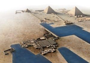 エジプトの古代都市「ヘイト・エル=グラブ」のイメージ(イラスト:Jose Miguel Mayo)