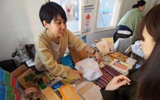 チャオの松田さんは「店舗で直接販売してお客に思いを伝えたい」と話す
