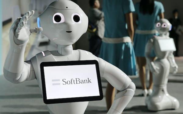 ソフトバンクのヒト型ロボット「ペッパー」