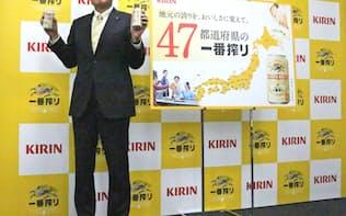47都道府県で造り分ける「一番搾り」で、若者のビール回帰を狙う(中核子会社のキリンビールの布施孝之社長)