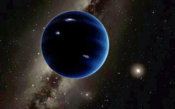 米国のチームが存在の可能性を指摘した新たな惑星の想像図(カリフォルニア工科大提供)