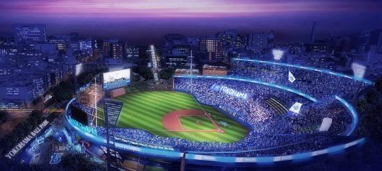 DeNAが披露した「夢の横浜スタジアム」のイメージ=横浜DeNAベイスターズ提供