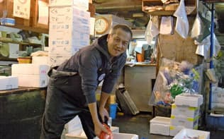 尾辰商店の河野竜太朗社長は、高級食材だけでなく「海外で認知度が高い国産のサバやブリまで幅広く手掛けたい」と力を込める